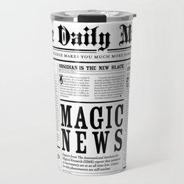 The Daily Mage Fantasy Newspaper Travel Mug
