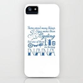 Cycling Nana iPhone Case