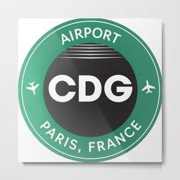 Paris CDG airport Metal Print