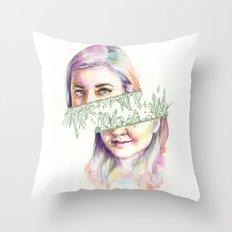 I Grow Crystals Throw Pillow