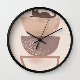 Hidden cat 7 abstract Pot balance  Wall Clock