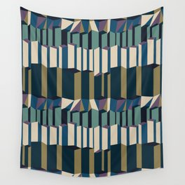 Straight Geometry City 2 Wall Tapestry