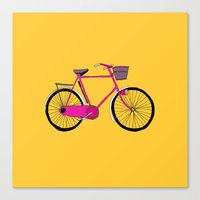 bicycle Canvas Prints featuring Bicycle  by bluebutton studio