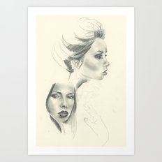 Double Hattie - Sketchbook Edition Art Print