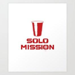 solo mission Art Print
