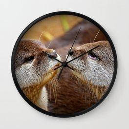 Otter Love Wall Clock