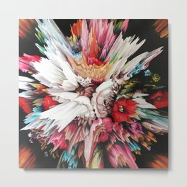 Floral Glitch II Metal Print
