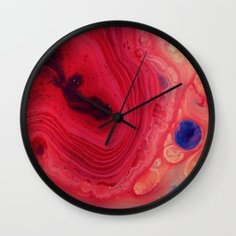 Red Science (Color) Wall Clock