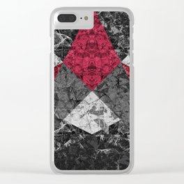 Marble Geometric Background G431 Clear iPhone Case