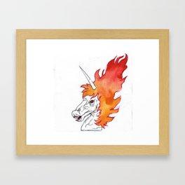 i am the HORSE of HELL Framed Art Print