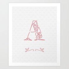 A Scallop: Pink Art Print