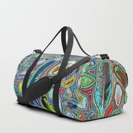 Feathers of birds of the world Duffle Bag