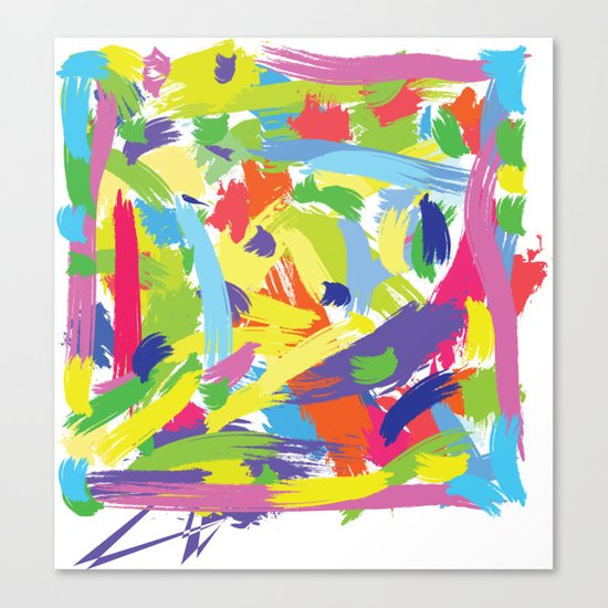 Color brush Canvas Print