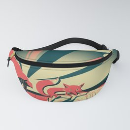 Fox at Sunset Fanny Pack