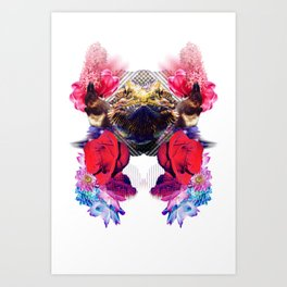Condescending Bearded Dragon Demolishes Surprised Bartenders While Lost in Space Art Print