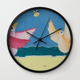 Beach Ball Fun Wall Clock