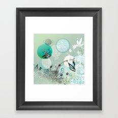 Floral collage Framed Art Print