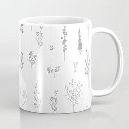 Wildflowers - Grey Flowers Coffee Mug