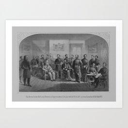 Lee Surrendering At Appomattox -- Civil War Art Print