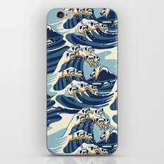 The Great Wave of Pug Pattern iPhone & iPod Skin