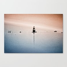 Fishing Near The Lighthouse Canvas Print