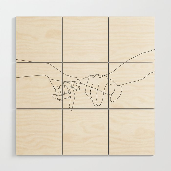 Pinky Swear Wood Wall Art