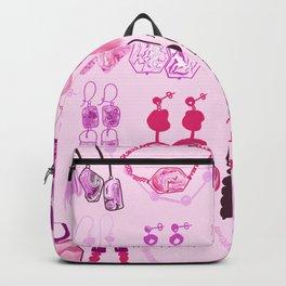 Modern marble purple earrings Backpack