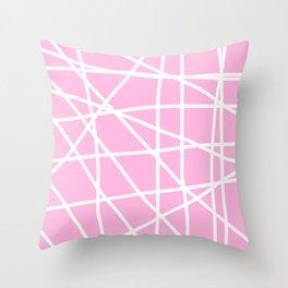Doodle (White & Pink) Throw Pillow