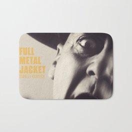 Full Metal Jacket, Stanley Kubrick, alternative movie poster, minimalist print, Vietnam War, Marines Bath Mat