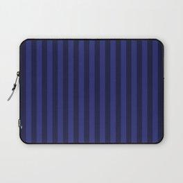 Navy Blue Stripes Pattern Laptop Sleeve