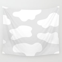 Splatter shapes gray pattern Wall Tapestry