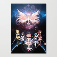 madoka magica Canvas Prints featuring Madoka Magica by Yiji