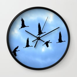 Welcome back! Cranes in flight #decor #society6 Wall Clock