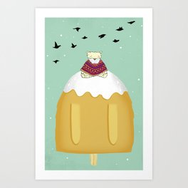 mountain meditation Art Print