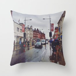 Soggy Day Throw Pillow