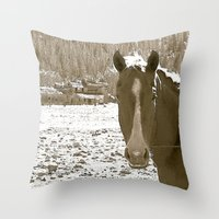 rustic Throw Pillows featuring Rustic by Stormy Mae