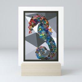 Retro Seahorse Mini Art Print