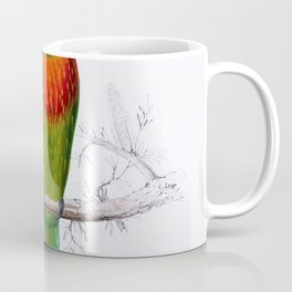 Edward Lear - Psitteuteles versicolor - Digital Remastered Edition Coffee Mug