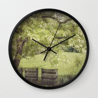 elmo Wall Clocks featuring Hanging out in the Shade by Kimberley Britt