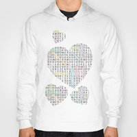 letters Hoodies featuring Love&Letters by Vannina