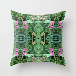 Wild Flower Pattern Throw Pillow