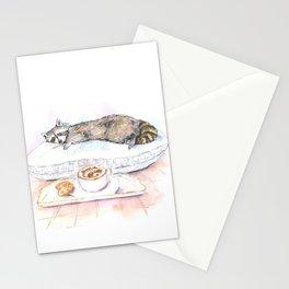 Sleeping Raccoon Stationery Cards