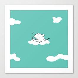 Flying Angler Fish by Amanda Jones Canvas Print