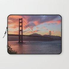 Golden Gate at sunset Laptop Sleeve