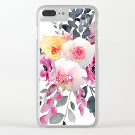 Heritage rose bouquet Clear iPhone Case