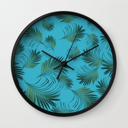 Tropical Palms Pattern #2 #tropical #decor #art #society6 Wall Clock