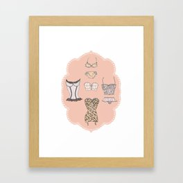 Lingerie Framed Art Print