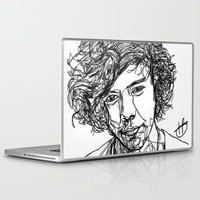 harry styles Laptop & iPad Skins featuring Harry Styles by Hollie B