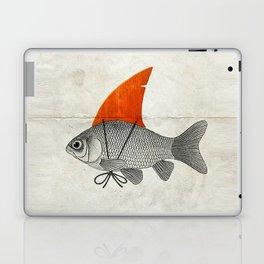 Goldfish with a Shark Fin Laptop & iPad Skin