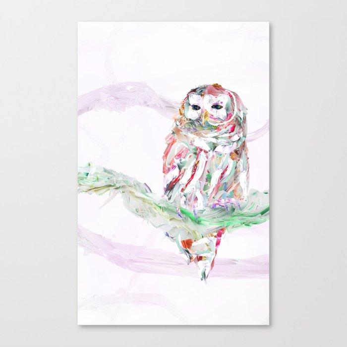 Nature In Technicolor - Owl Canvas Print